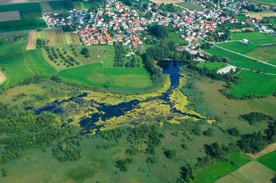 Ebenweiler See aus der Luft