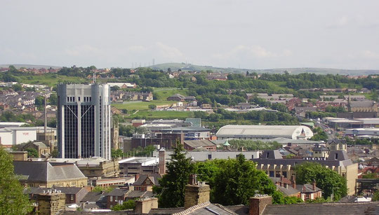 Skyline of Blackburn Town Centre