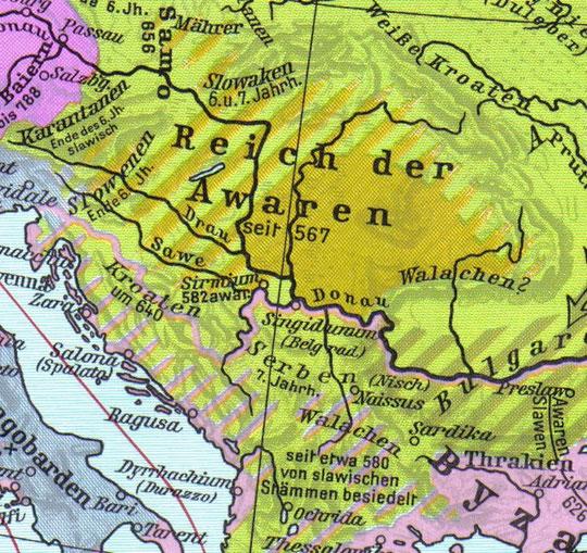 Hrvati su (626 do 635) pobijedili Avare i potisnuli ih sjeverno od Dunava