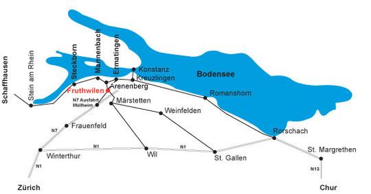 Übersicht Standort Fruthwilen