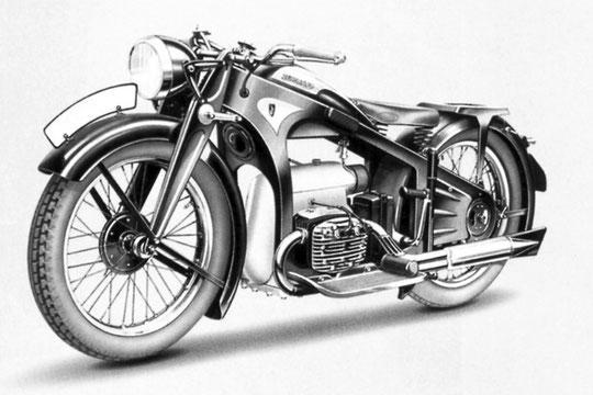 K600 de 1933. N° Serie 139001 à 139026. 4 cylindres 4 temps.