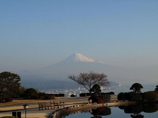 ホームページ表紙の写真です(日本平ホテル庭園から清水港を望む 2008-1-6)