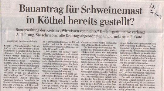 Lübecker Nachrichten 21.04.2011