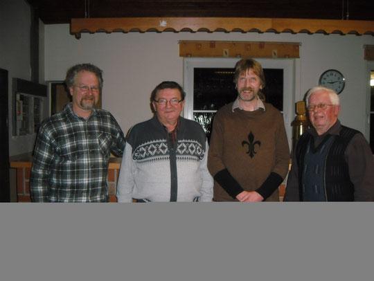 Der Vorstand: Christian König (bisheriger Schriftführer), Heinz-Dieter Schade (Kassenführer), Thorsten Segelken (neuer Schriftführer), Hans-Heinrich Sticht (Vorsitzender)