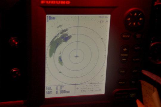 Ein Squall auf dem Radar: Gleich geht´s rund......