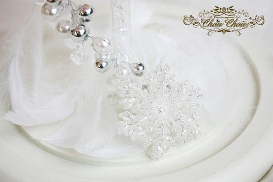 プロポーズ ディズニー ガラスドーム オーダーフラワー 花 プリザーブドフラワー 雪