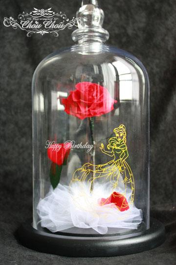 美女と野獣 ベル刻印  バラ ガラスドーム