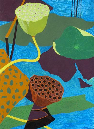 Lotus A01.Gouache sur papier.60x80 cm. 2012.