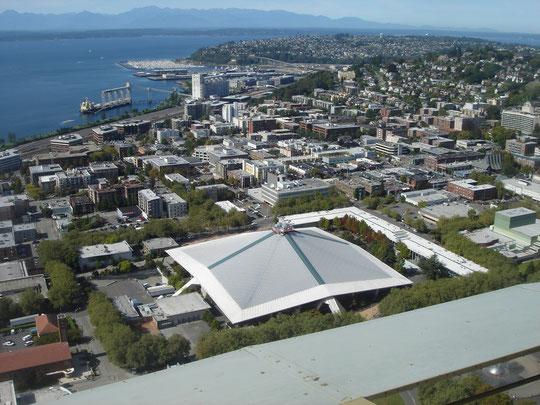 Key Arena (Pearl Jam) von oben