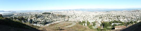 Panorama San Francisco von Twin Peaks aus