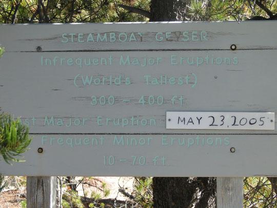 Steamboat Geyser  (Yellowstone N.P.)