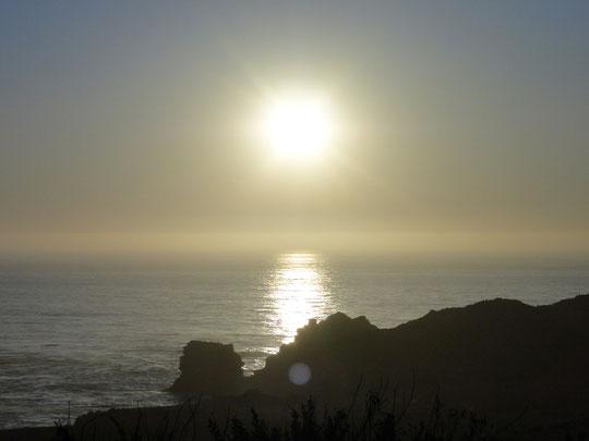 Sonnenuntergang um Big Sur