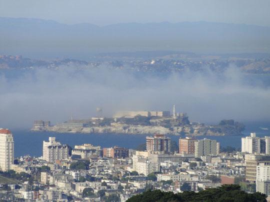 Alcatraz von Twin Peaks aus