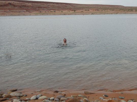 Bad im Lake Powell)