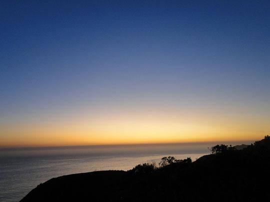nach Sonnenuntergang um Big Sur