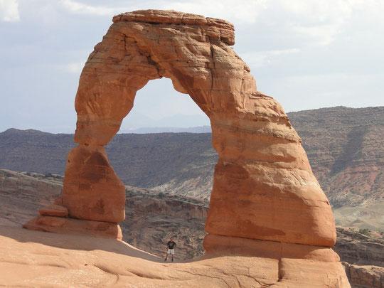 Delicate Arch (Arches N.P.), nur so von wegen den Grössenverhältnissen