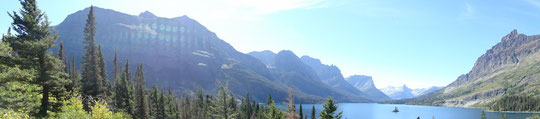 Panorama Saint Mary Lake (Glacier N.P.)
