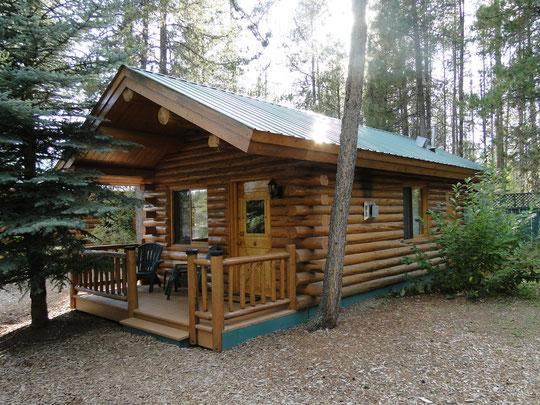 unser wunderschönes Chalet für zwei Nächte (Silverwolf Lodge in der Nähe des Glacier N.P.)