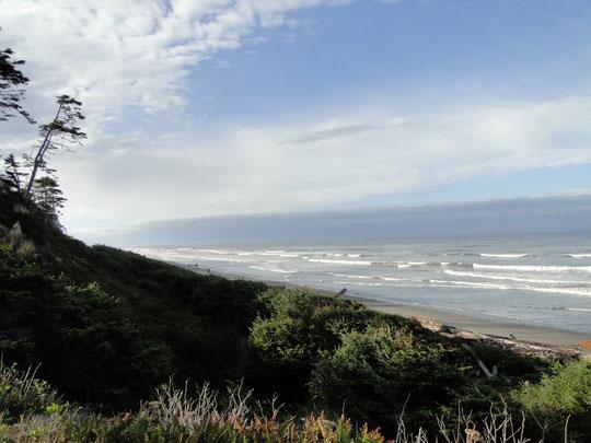 erster Blick auf den Pazifik seit 3 Wochen