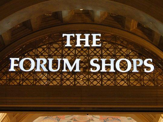The Forum Shops - wurden uns zum Verhängnis