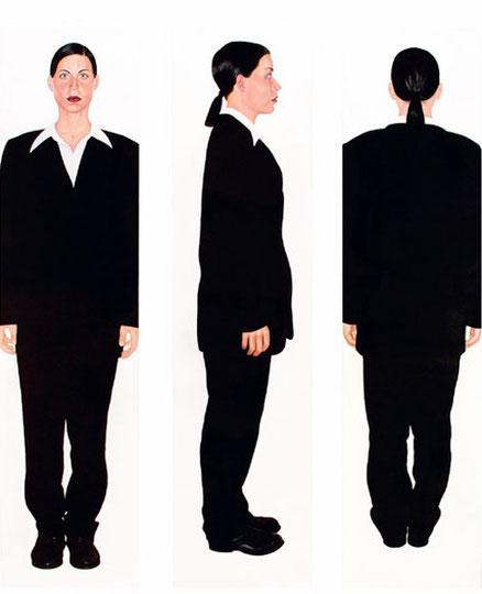 """Eine halbe Drehung"" 2003 Öl/LW 200x170cm"