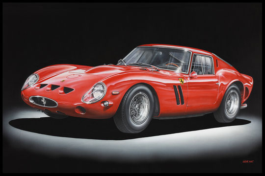 """ FERRARI 250 GTO ""  Acrylic Painting on Canvas   73 x 116 cm"