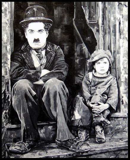 """ THE KID ""   Acrylic Painting on Canvas    81 x 100 cm"