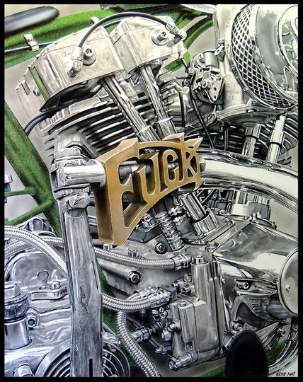 """"""" FUCK """"    acrylique sur toile de lin   81 x 100 cm"""
