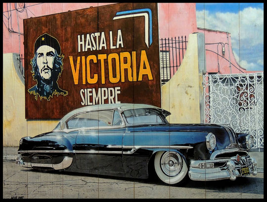 """ CUBA ""  Acrylic Painting on Wood    75 x 99 cm"