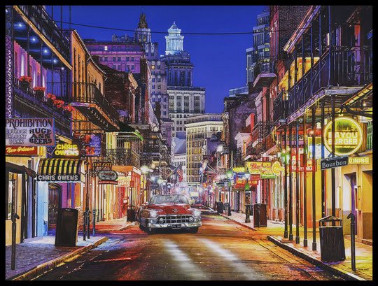 """ NEW ORLEANS "" Acrylic Painting on Canvas  89 x 116 cm"