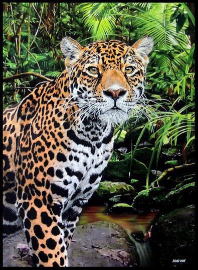 """ JAGUAR ""    Acrylic Painting on Canvas   73 x 100 cm"