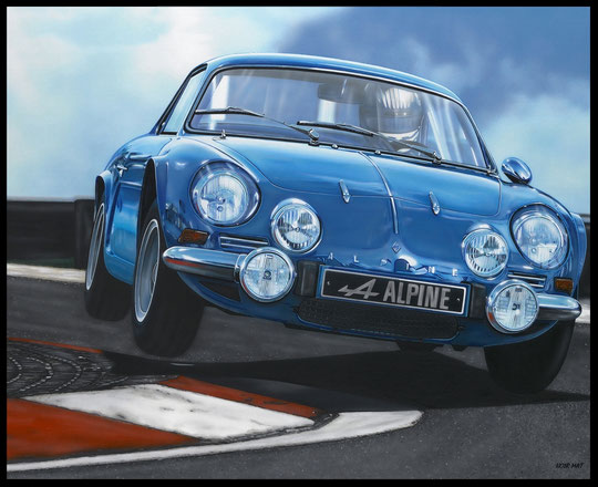 """ ALPINE A110 "" Acrylic Painting on Canvas  81 x 100 cm"