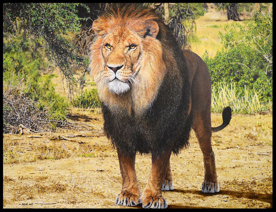 """ THE KING ""  Acrylic Painting on Canvas   116 x 89 cm"