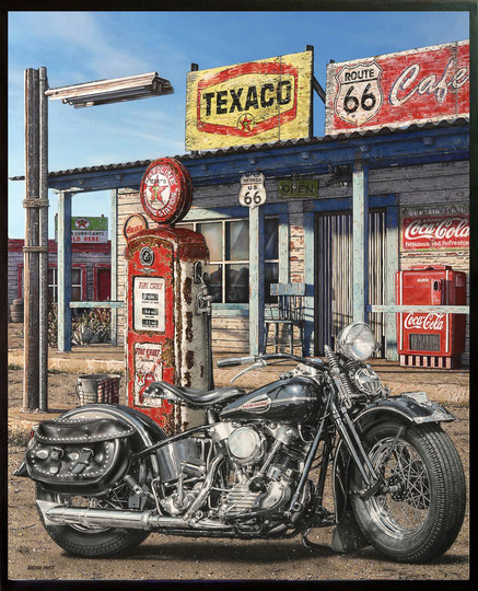 """ TEXACO "" Acrylic Painting on Canvas  81 x 100 cm"