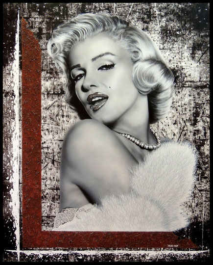 """ MARYLIN FOREVER ""   Acrylic Painting on Canvas   81 x 100 cm"