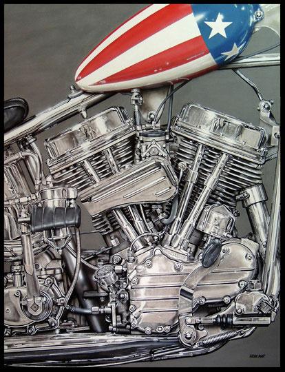 """"""" AMERICA """"  acrylique sur toile de lin  89 x 116 cm"""
