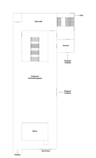 Raumplan Großraum und Eltern-Café