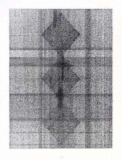 Apocalypse; Tusche auf Bütten, Handschrift / Handwriting,  (Ink on paper); 108 x 78,5 cm; 2004