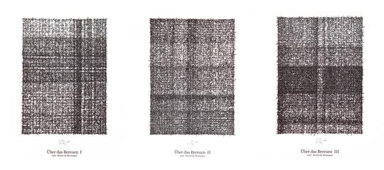 Über das Bereuen / About repenting; Tusche auf Bütten, Handschrift / Handwriting,  (Ink on paper); 90 x 40 cm; 2003