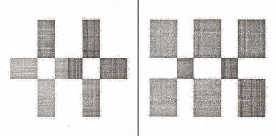 Tractatus logico philosophicus;  Tusche auf Bütten, Handschrift / Handwriting, , Handschrift / Handwriting,  (Ink on paper); 100 x 200 cm; 2001