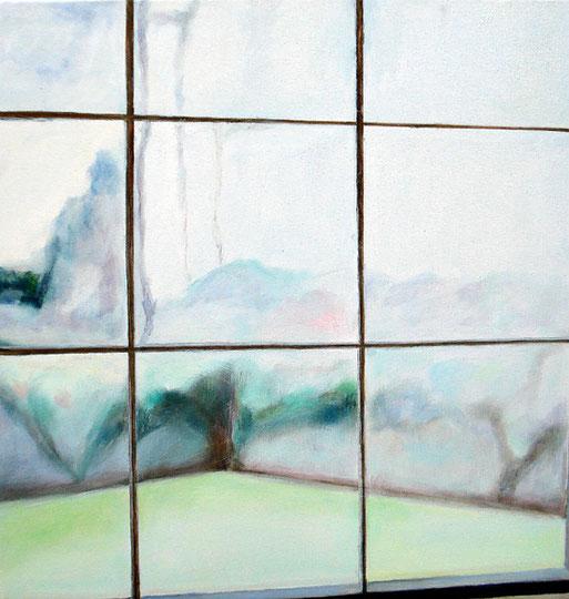 "Rain Window 18"" x18"" / 雨窗 46 x 46cm, 2007"