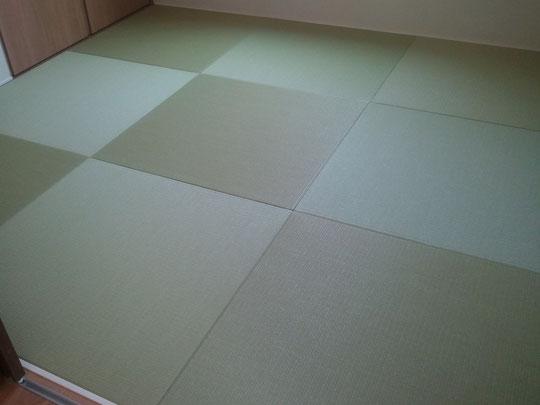 新築・薄畳15㍉・ダイケン清流銀白色(和紙表)・縁無し畳