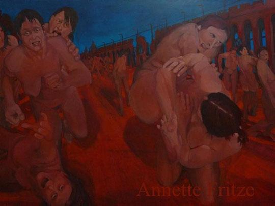 Fritze Annette/ Halteverbot/ Acryl auf Leinwand/ 160x200