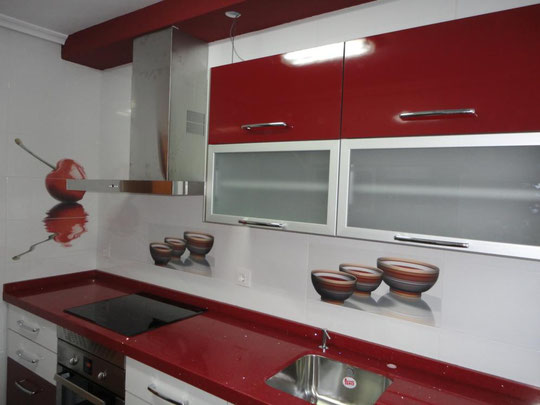 Cocina martos burdeos y blanco cocinas jaen - Cocinas color burdeos ...