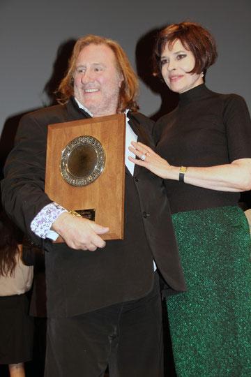 Fanny Ardant  et Gérard Depardieu - Festival Lumière 2011 © Anik COUBLE