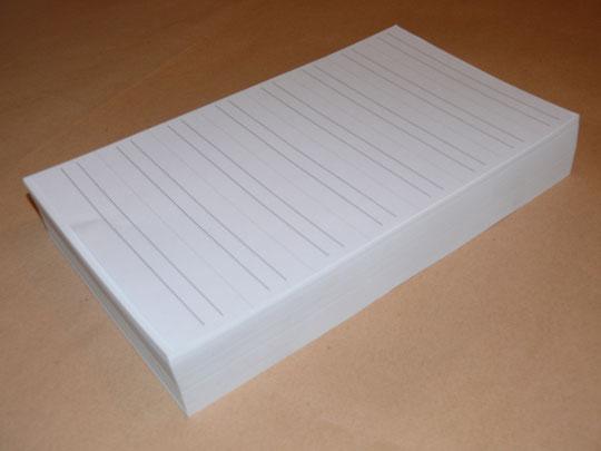 Scribor liniert / 500 Bogen / 4000 Streifen