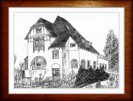 Villa am Ohlendorffturm, HH- Rahlstedt   Bleistiftzeichnung  42 x30 cm