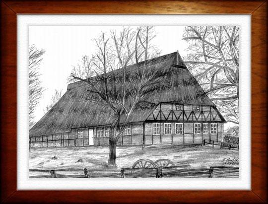 Museumsdorf Volksdorf 3 - Hamburg    Bleistiftzeichnung  42 x30 cm