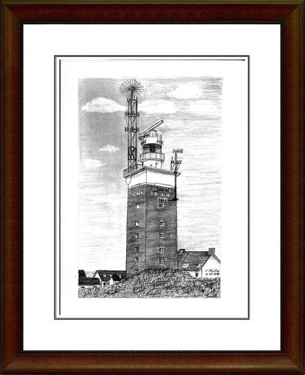 Leuchtturm Helgoland   Bleistiftzeichnung   42 x 30 cm