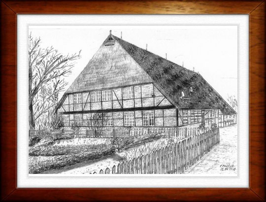 Museumsdorf Volksdorf 1 - Hamburg    Bleistiftzeichnung  42 x30 cm